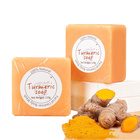 Soap Herbal Soap Hand Made Savon Tumeric Anti Acne Remove Pimples Dark Spots Savon Tumeric Citron Natural Square Turmeric Herbal Soap Organic