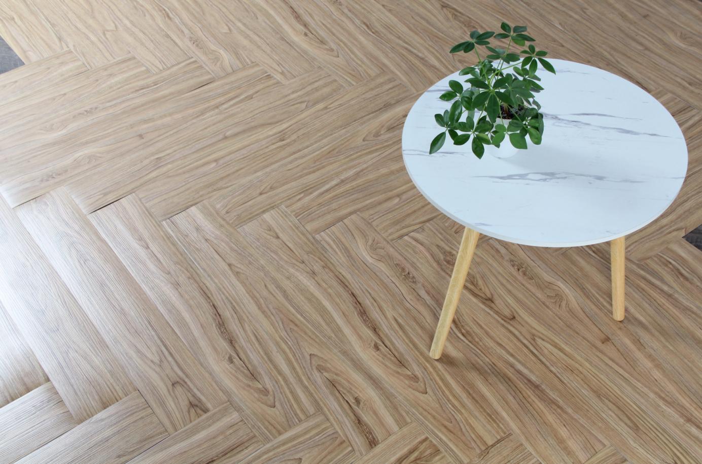 Cheapest 1.6/1.8mm Hot sale self adhesive  PVC floor covering LVT vinyl flooring tile