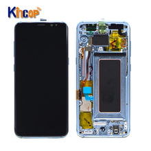 Mobilephonelcds Venda Quente Para Samsung Galaxy S8 Display LCD Touch Screen Substituição Assembly Para Samsung S8 lcd com quadro