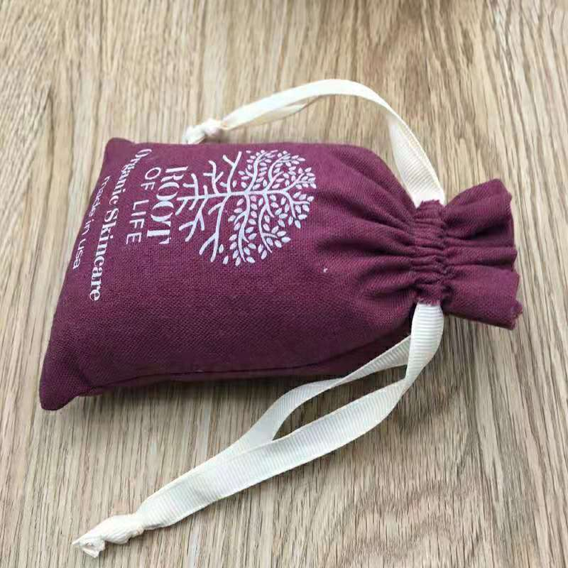Customized logo and size cotton gift bags smart watch for kids packing cotton pouch