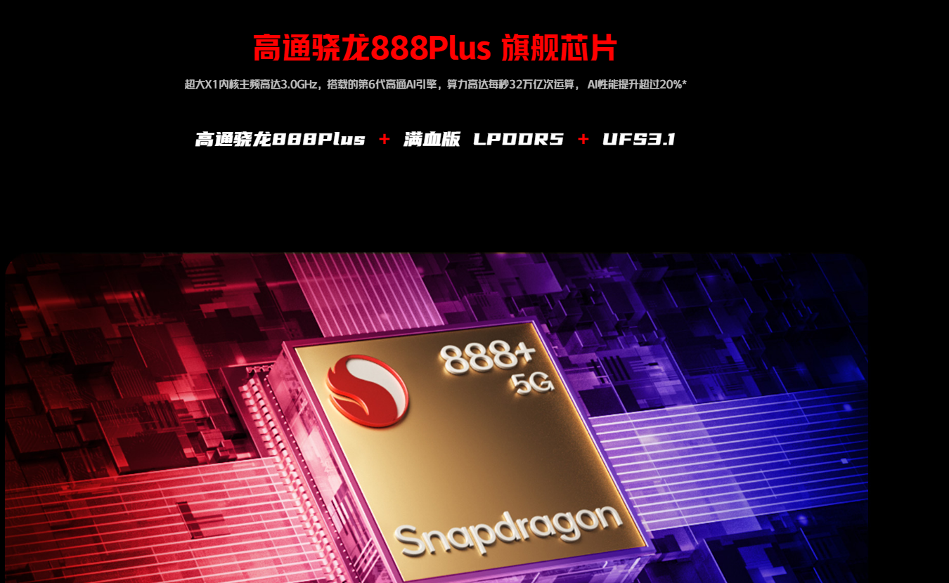 """New Arrival Nubia Red Magic 6S Pro Gaming 5G Phone 6.8"""" 2400x1080P AMOLED 165Hz Qualcomm SD888 Plus 4500mAh 120W Fast Charging"""