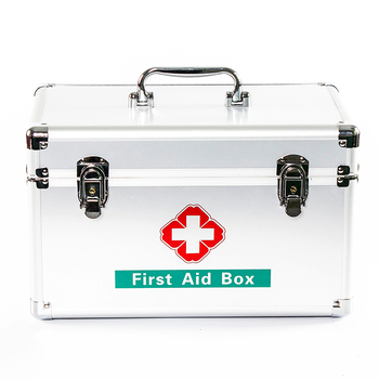 First Aid Kit, Aluminium Medical Carrying Case, Emergency&Trauma Nursing Chest, Home&Clinic&Office&Workplace&Car Health Care Box