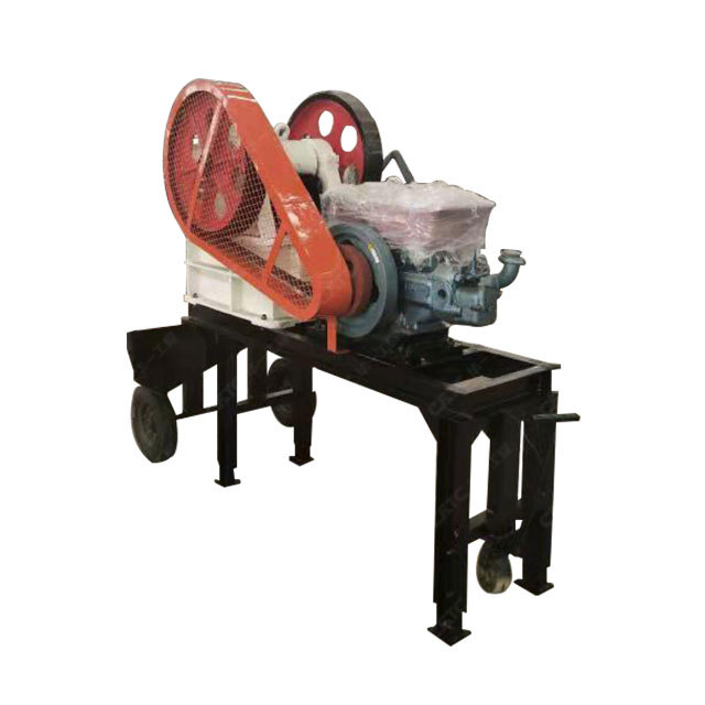 Small capacity road construction 200 x 350 mini portable stone jaw crusher price for sale