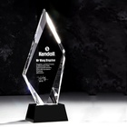 Crystal Award Crystal K9 Crystal Material High Quality Color Printing Crystal Award Glass Trophy