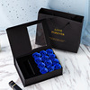 Blue soap rose+box+bag