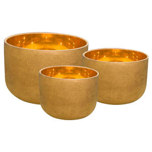Chakra Tuned 24K gold Solid Gold Frosted Quartz Crystal Singing Bowls