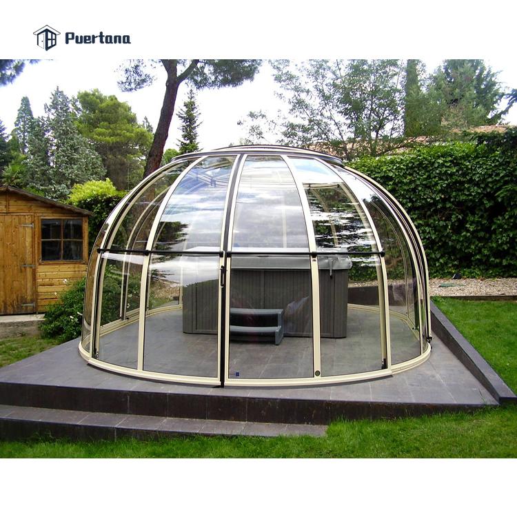 Выдвижная купольная крышка для бассейна, крышка для горячей ванны, купольный корпус для спа