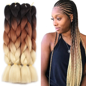 Synthetic Hair Super Jumbo Braids Hair Yaki Texture Synthetic braid Expression Tone Jumbo Braiding Hair Extensions for Woman