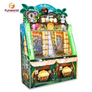 Unique Design High Earning Two Players Coin Operated Games Push Token Arcade Coin Pusher