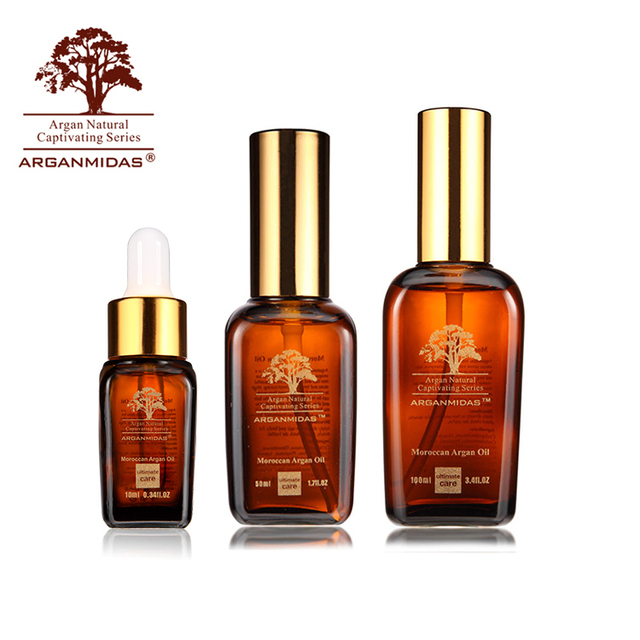 Low MOQ make your brand organic natural cosmetic hair moisturizing argan oil treatment for hair