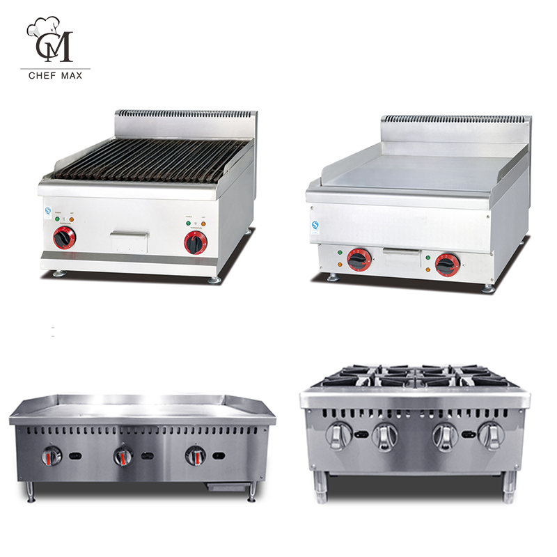 Chefmax Commercial Custom countertop 6 Burner Gas Cooker Furnace Cooking Pot Stove Gas Range