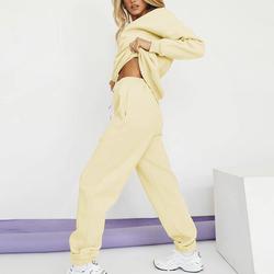 New Fall Fashion Women's Jogger Fleece Loose Pants And Shorts And Crew Neck Sweatshirt Sets