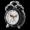 Noir analogique alarme horloge