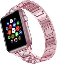 Бриллиантовый ремешок для apple watch 38 мм 40 мм iwatch band 44 мм 42 мм series 5 4 3 2 1 apple watch из нержавеющей стали ремешок для женщин(China)