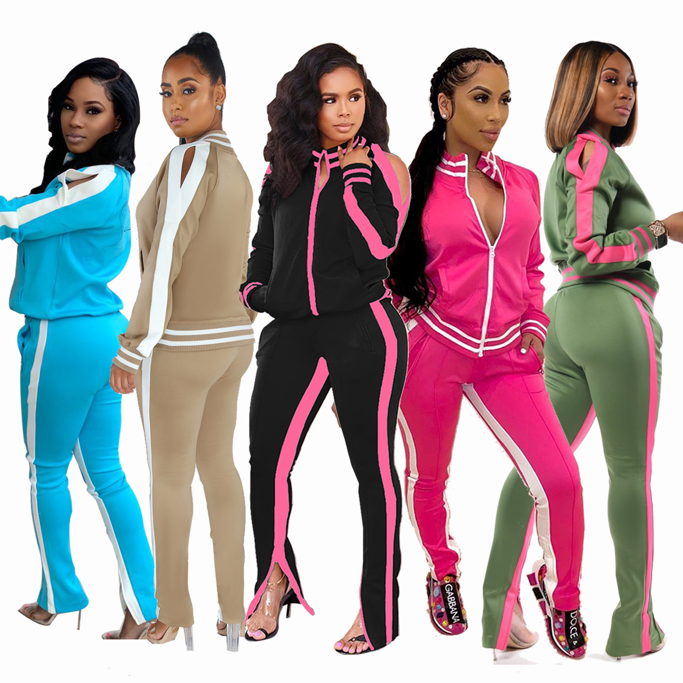 Casual Ladies Sweatsuit Two Piece Sets Jogging Suits Wholesale Plus Size Track Suit For Women Tracksuit Set Buy Sportswear Women Jogger Set Women Jogger Mujer Women Jogger Set Womens Tracksuits Custom Tracksuit Product