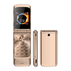 ULCOOL V9 Metal Body Dual SIM Card Dual Standby Gold Color 2G GSM Unlocked mall Size Flip Mobile Phone with Call Recorder