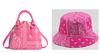 pink  purse hand hat