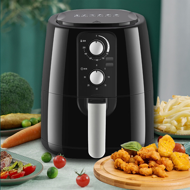 5.5L Air Fryer with Presets & Adjustable Temperature, Nonstick Stainless Steel & Cool-Touch, Healthy Rapid-Air Frying