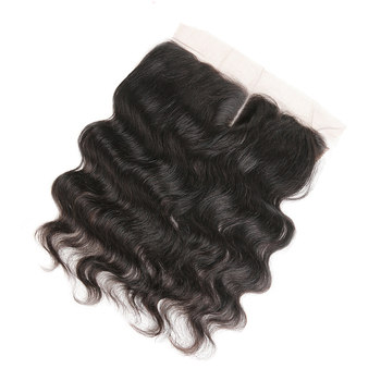 10 Grade Non Remy Human virgin hair weaves frontal closure unprocessed Brazilian body wave hair