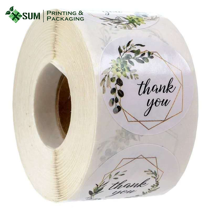 Round Label Fancy Design Paper Type Thank You Stickers Floral Buy Thank You Stickers Floral Sticker Roll Fancy Adhesive Label Sticker Product On Alibaba Com