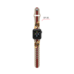 Eamiruo Brand design pattern Silicone Watch Band fit apple smartwatch series 6 5 4 3 2 1 Watch Strap Wristband Watch accessories