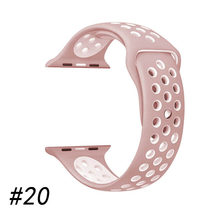 Спортивный силиконовый ремешок для часов, совместимый с apple watch band, 42 мм, 38 мм, 40 мм, 44 мм, браслет correa iwatch series 5, 4, 3, 2, 1(Китай)