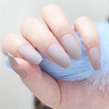Белый гроб поддельные ногти Короткие Impress глянцевые балерины накладные ногти с клеем, стикер искусственные пластмассы(Китай)