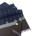 Silk Scarf Scarf Scarf Checked Multi -Color Men's Comfortable 100% Silk Woven Brushed Scarf Factory Direct Sale
