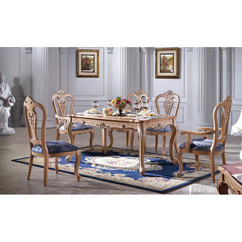 Rose wood luxury hand carved dining room furniture Royal palace using dining sets