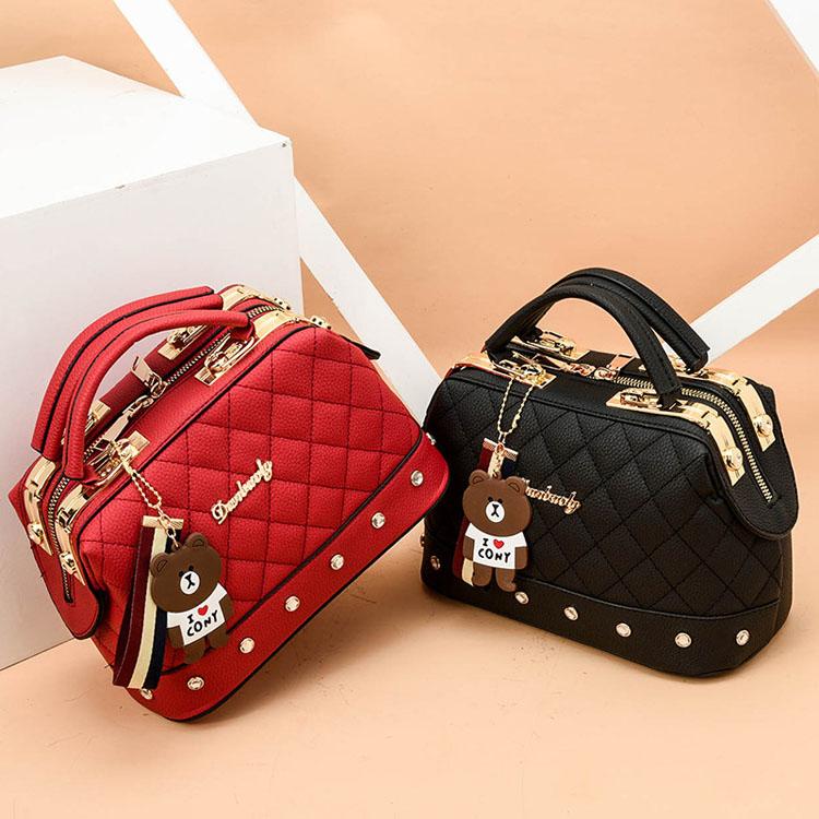 Plaid Handbag Shoulder Diamonds Womens Handbags Korean Portable Handbag