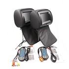 Supports DVD/CD dual screen 7'' headrest car dvd player with AV