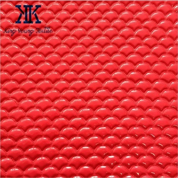 embroidery backing fabric / quilted leather fabric for handbags / quilting embroidery leather fabric