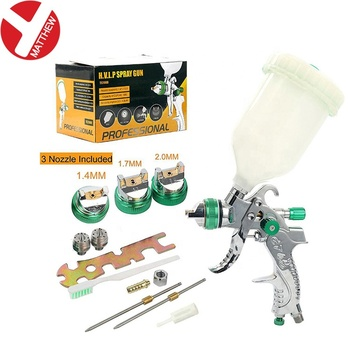 Pneumatic Paint Tool Spray Gun Kit with Three Different Spray Nozzles