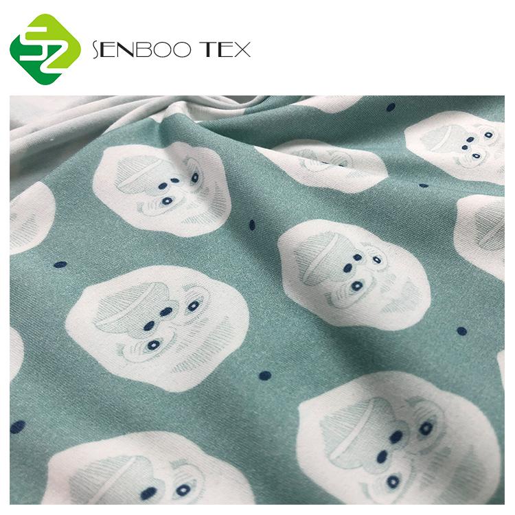 Настраиваемая реактивная цифровая печать мягкая Джерси спандекс Бамбуковая ткань для детской одежды