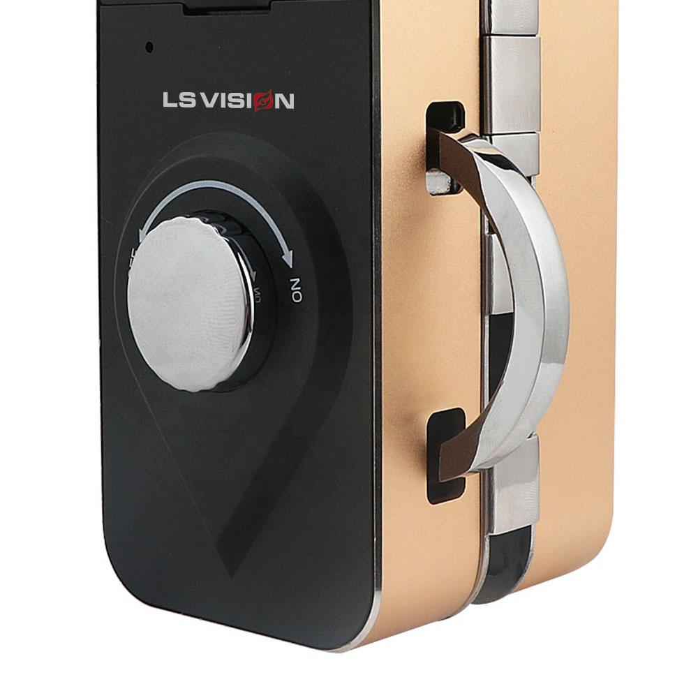LS VISION Intelligent Fingerprint Recognition Password RFID Card Office Swing Sliding Single Double Frameless Glass Door Lock