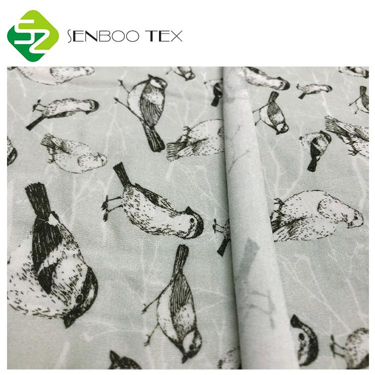 Трафаретная печать, 95/5 вязаный спандекс, натуральная Бамбуковая ткань для ребенка