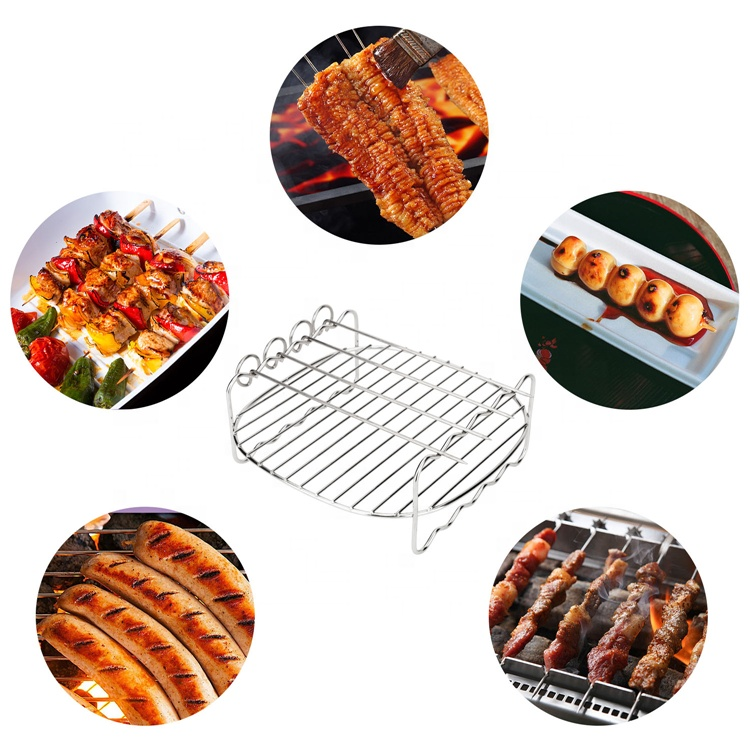 8 Inch Air Fryer Accessories for 5.8 qt XL Air Fryer, Fits for Gowise, Cozyna Power AirFryer
