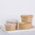 Takeaway factory price hot selling kraft paper soup bowl with lid