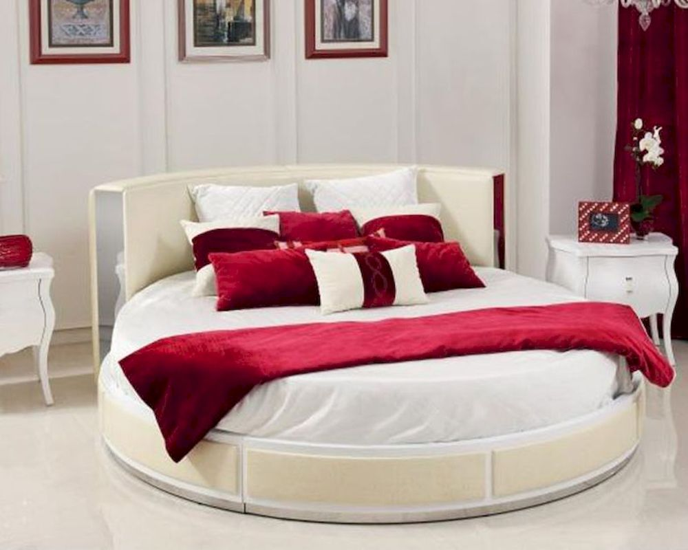 Custom Made Round Italian Bed Prices Bedroom Furniture Sets For Hotel Room  - Buy Round Italian Bed,Furniture Bedroom Round Bed,Round Bed Prices