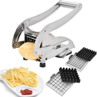 Cutter Slicer Cutter French Fry Cutter With 2 Blades Stainless Steel Potato Slicer Cutter Chopper Potato Chipper