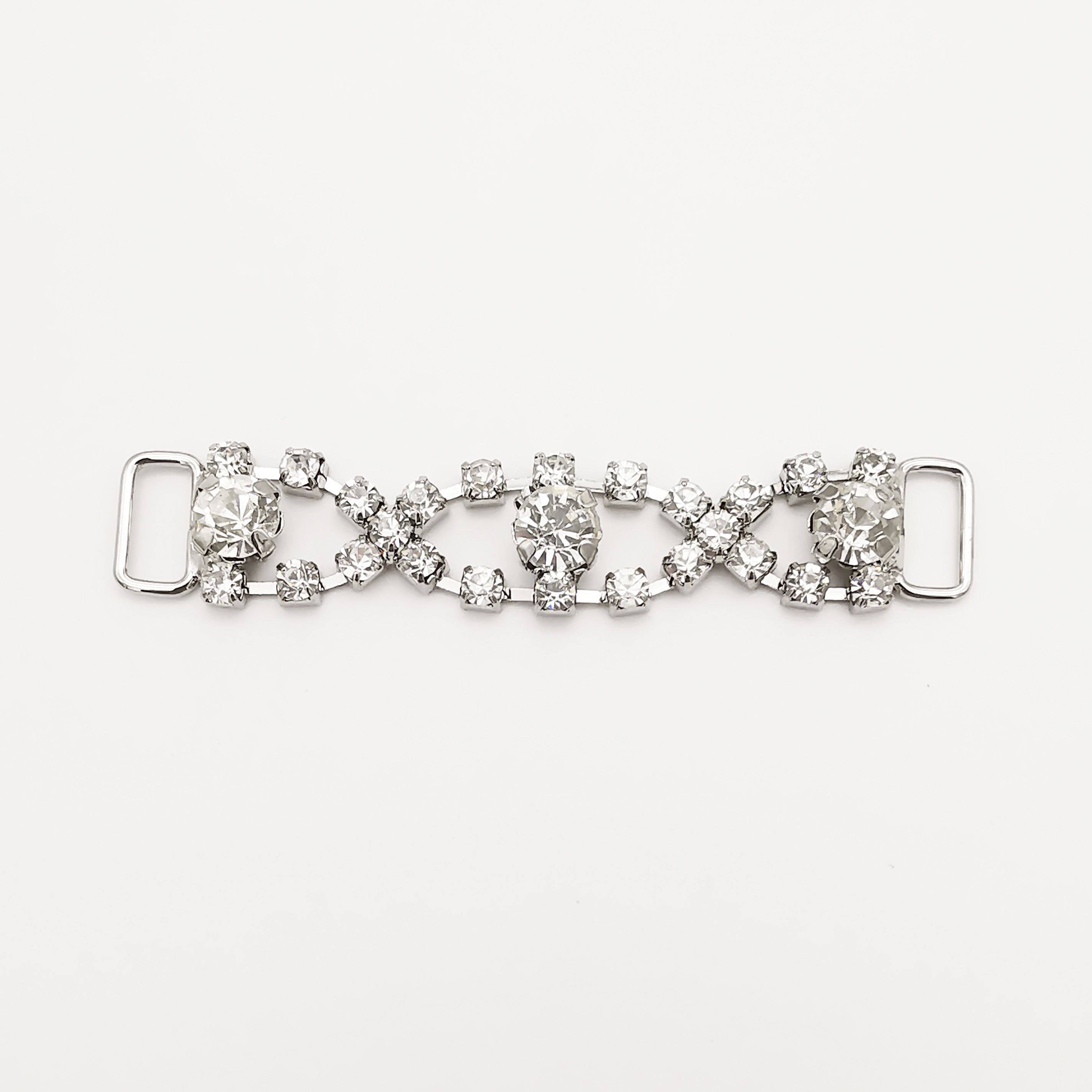 decorative  shoe  chain with nagina diamond stone trim