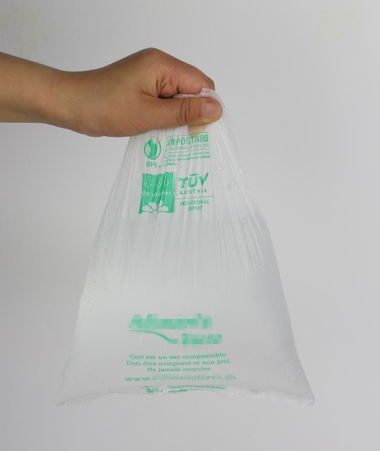 100% биоразлагаемый пакет для фруктов и овощей в рулоне с плоской герметизацией для супермаркета