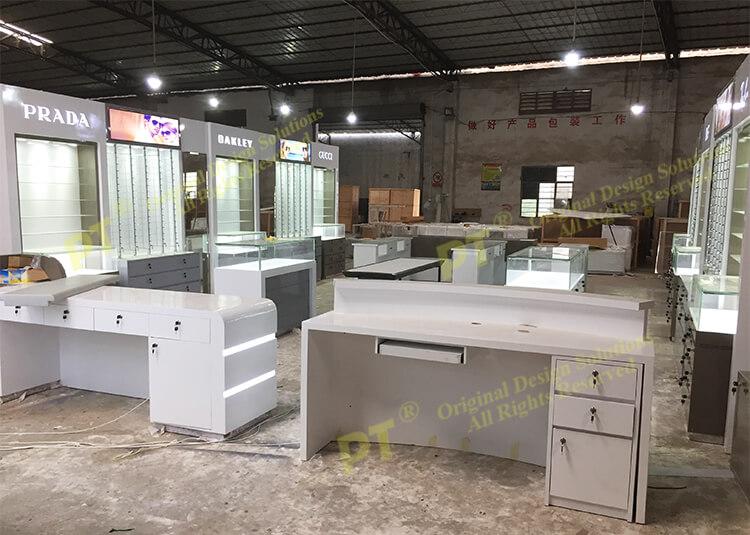 High Quality Double Custom Modern White Wholesale Nails Polish Salon Bar Furniture Nail Table Manicure Table