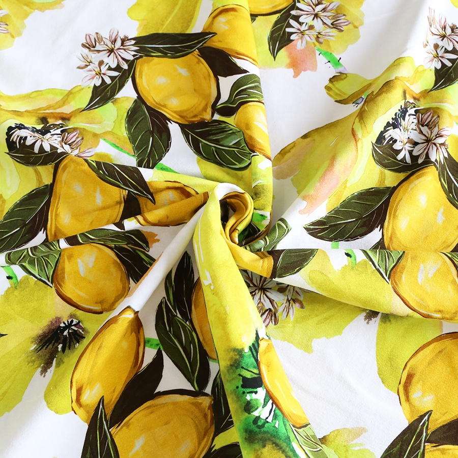 Digital printing 95 Cotton 5 Spandex lycra Knitted fabric for kids
