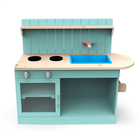 Toy Kids Children Toy Kitchen Children Pretend Outdoor Garden Large Toy Wooden Kids Play Kitchen Toy