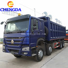 Used sino truck Howo 371hp 8x4 12tires 30ton 40 ton dump tipper truck for sale
