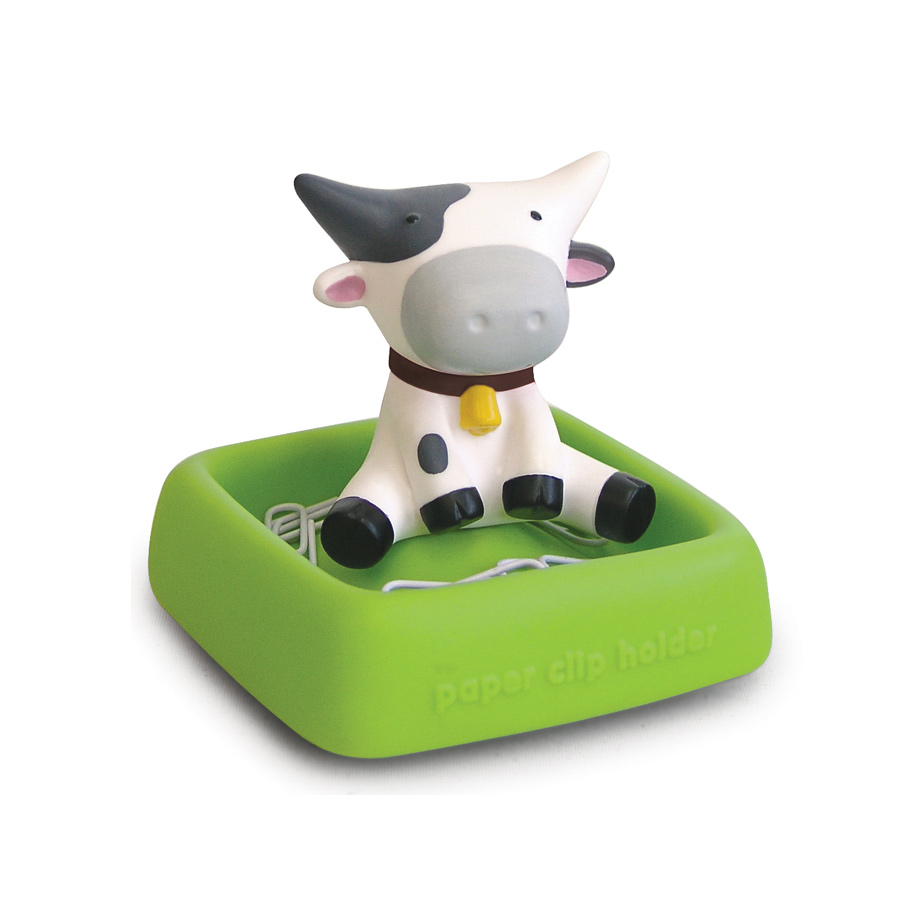 Розовая корова бумажный зажим и держатель в форме животного