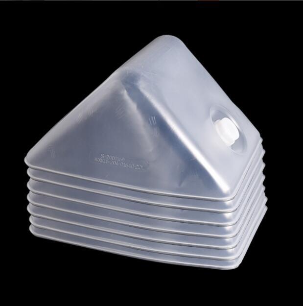 Портативная прозрачная складная пластиковая сумка-ведро с вкладками для пищевых продуктов для кемпинга на открытом воздухе
