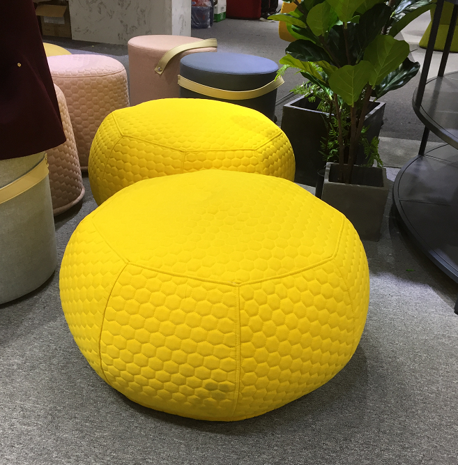 Yellow Colour Bean Bag Round Knitted Ottoman Giant Bean Bag Large Pouf Ottoman Buy Bean Bag Ottoman Pouf Product On Alibaba Com