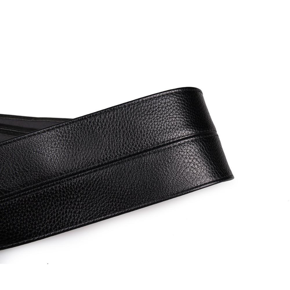 Лидер продаж 2021, модный длинный черный мягкий кожаный женский ремень